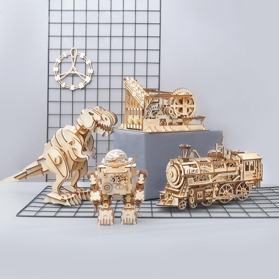 Creative Wooden Building Sets, Brain Teasers - Robotime